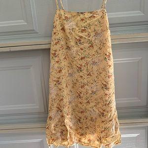 american eagle yellow slip dress